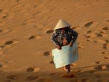Donna di vendite in dessert del Vietnam fotografia stock libera da diritti