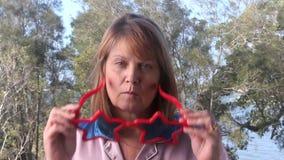 Donna di vetro della stella archivi video