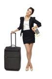 Donna di viaggio d'affari Fotografie Stock