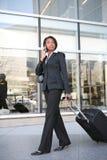 Donna di viaggio d'affari Fotografia Stock