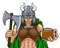 Donna di Viking Female Gladiator Football Warrior royalty illustrazione gratis
