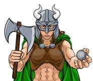 Donna di Viking Female Gladiator Golf Warrior royalty illustrazione gratis