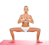 Donna di yoga Immagine Stock