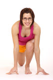 Donna di yoga Fotografie Stock
