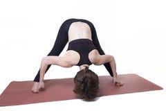 Donna di yoga di sport isolata Fotografia Stock