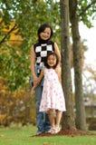 Donna di Yong e la sua figlia Immagine Stock