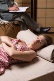 Donna dipendente al sesso fotografia stock