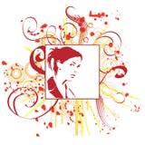 Donna disegnata a mano Immagini Stock