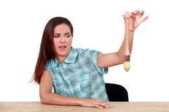 Donna disgustata Fotografie Stock Libere da Diritti