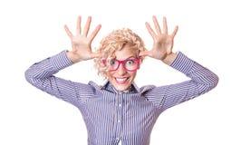 Donna divertente Fotografia Stock Libera da Diritti