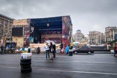 Donna due su una via a Kiev Immagine Stock Libera da Diritti