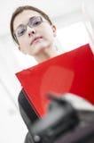Donna dura di affari Fotografie Stock Libere da Diritti