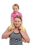 Donna e bambina felici Immagini Stock Libere da Diritti
