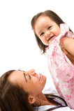 Donna e bambino Fotografia Stock