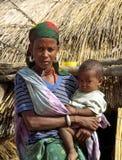 Donna e bambino africani Fotografia Stock Libera da Diritti