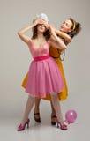 Donna e bambino che hanno divertimento Fotografie Stock