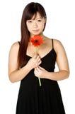 Donna e fiore Fotografia Stock Libera da Diritti