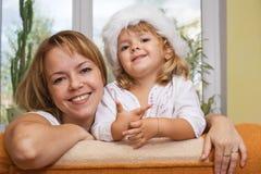 Donna e la sua bambina   Fotografia Stock Libera da Diritti