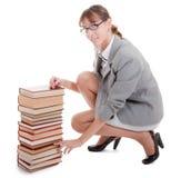 Donna e libro Fotografia Stock Libera da Diritti
