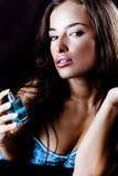 Donna e profumo Fotografia Stock