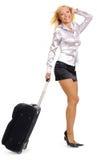Donna e viaggio d'affari Immagini Stock