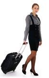 Donna e viaggio d'affari Fotografia Stock Libera da Diritti