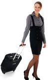 Donna e viaggio d'affari, donna e trave di affari Fotografia Stock