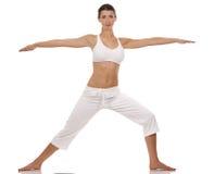 Donna e yoga Immagini Stock Libere da Diritti