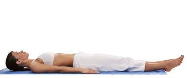 Donna e yoga Fotografia Stock