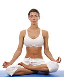 Donna e yoga Fotografia Stock Libera da Diritti