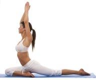 Donna e yoga Immagini Stock
