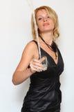 Donna ed acqua di fascino Fotografia Stock Libera da Diritti