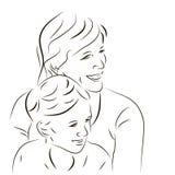 Donna ed il suo figlio Fotografia Stock