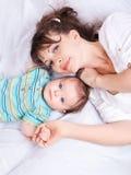 Donna ed infante Fotografia Stock