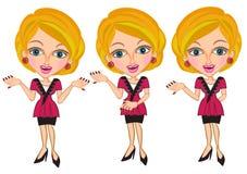Donna ed insegna di affari Immagini Stock