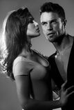 Donna ed uomo di passione immagini stock
