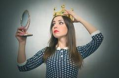 Donna egoista Persona egoistica Fotografia Stock Libera da Diritti