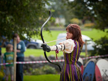 Donna from Eireann Edge displays Archery Stock Photography