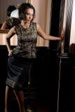 Donna elegante Fotografie Stock