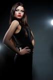Donna elegante di fascino Fotografia Stock