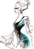 Donna elegante di modo Fotografie Stock
