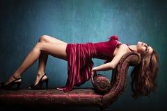 Donna elegante sensuale immagine stock libera da diritti