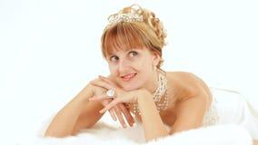 Donna elegante vestita stock footage