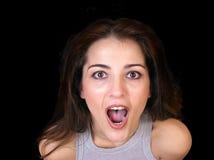 Donna emozionante Fotografia Stock