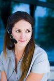 Donna esecutiva sul telefono fotografie stock libere da diritti