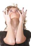 Donna espressiva Immagini Stock Libere da Diritti