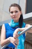 Donna esterna Fotografie Stock