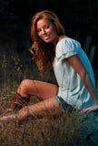 donna esterna di modo Fotografia Stock