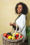 Donna etiopica felice Immagini Stock