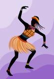 Donna etnica dell'Africano di ballo Fotografie Stock